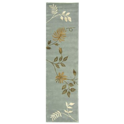 Armstrong Light Blue Rug Rug Size: Runner 26 x 14