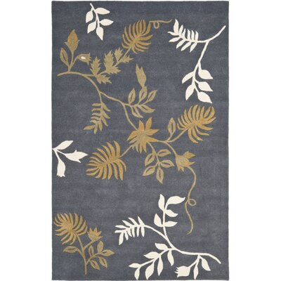Soho Dark Grey Area Rug Rug Size: 2 x 3