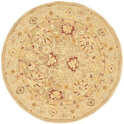 Anatolia Tan/Ivory Rug Rug Size: Round 4' image