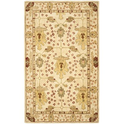 Anatolia Cream/Red Area Rug Rug Size: 2 x 3