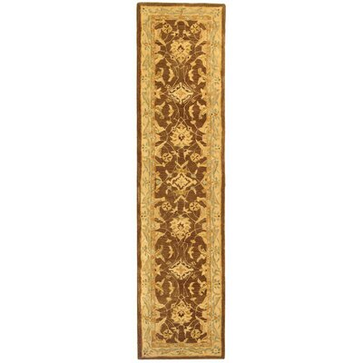 Anatolia Brown/Tan Area Rug Rug Size: Runner 23 x 12