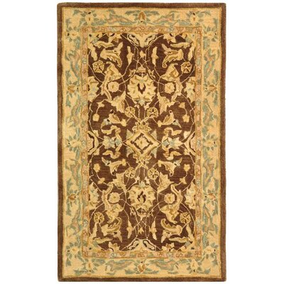 Anatolia Brown/Tan Area Rug Rug Size: 2 x 3