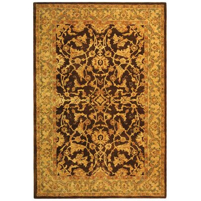 Anatolia Brown/Tan Area Rug Rug Size: 5' x 8'