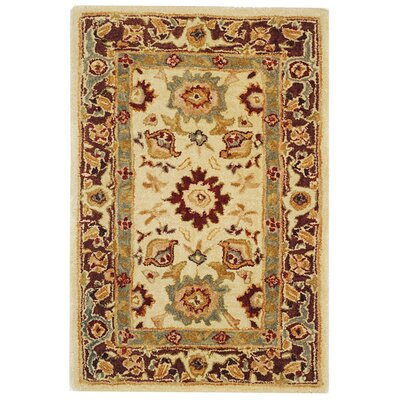 Anatolia Ivory/Brown Rug Rug Size: Rectangle 4 x 6