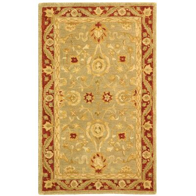 Anatolia Light Green/Red Area Rug Rug Size: 3 x 5