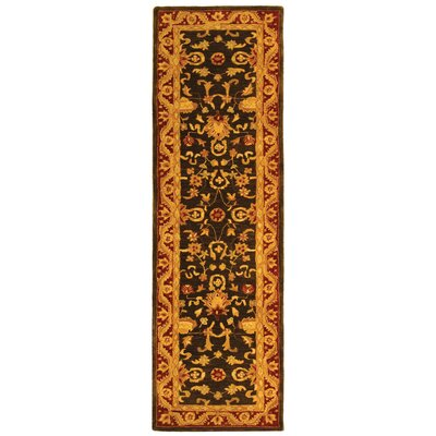 Anatolia Charcoal/Red Area Rug Rug Size: Runner 23 x 12