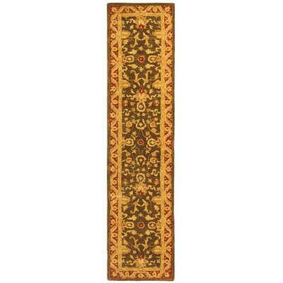 Anatolia Charcoal/Red Area Rug Rug Size: Runner 23 x 10