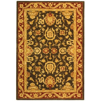 Anatolia Charcoal/Red Area Rug