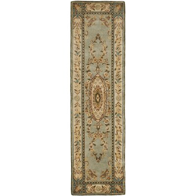 Bergama Light Blue/Ivory Area Rug Rug Size: Runner 23 x 12