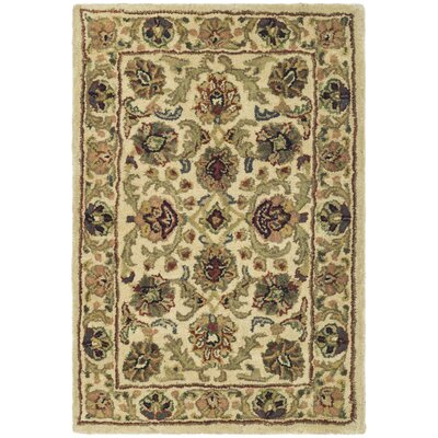 Classic Isfahan Ivory / Ivory Oriental Rug Rug Size: 2' x 3' Rectangle