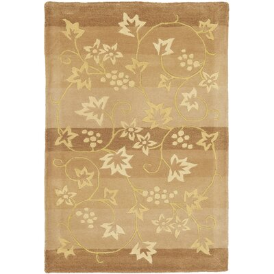French Tapis Brown/Gold Area Rug Rug Size: 2 x 3