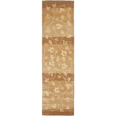 French Tapis Brown/Gold Area Rug Rug Size: Runner 23 x 10