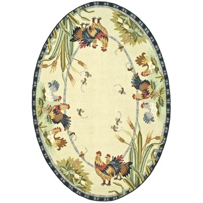 Kinchen Country Rug Rug Size: Oval 46 x 66