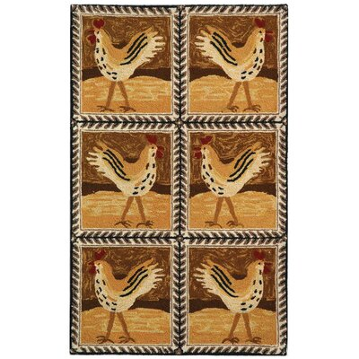 Chelsea Chicken Checked Novelty Rug Rug Size: Runner - 2'6 x 8' image