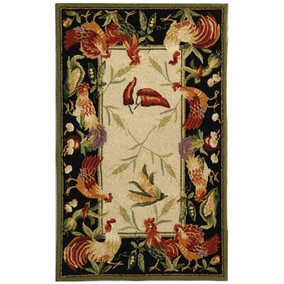 Chelsea Leaf and Chicken Novelty Area Rug