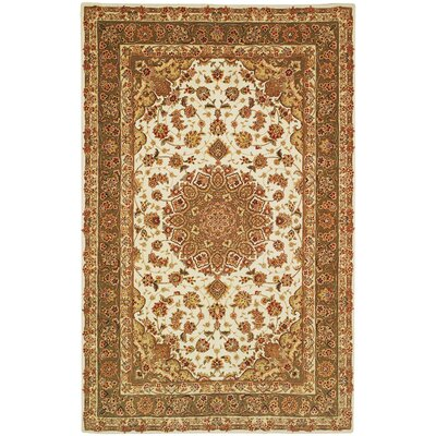 Persian Court Ivory/Light Olive Rug Rug Size: Round 6