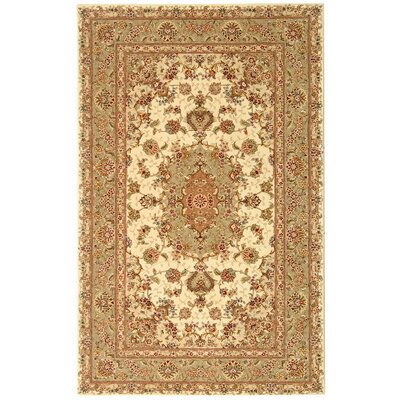 Persian Court Ivory/Green Rug Rug Size: 4 x 6