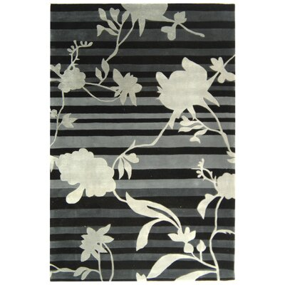 Rodeo Drive Black Floral Area Rug Rug Size: Rectangle 8 x 11