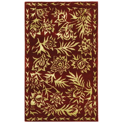 Riviera Red/Gold Rug Rug Size: Rectangle 26 x 42