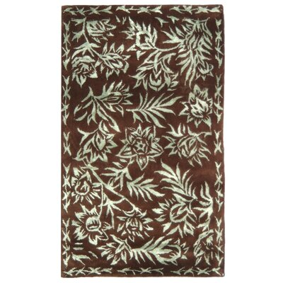 Riviera Aqua/Chocolate Rug Rug Size: Rectangle 19 x 210