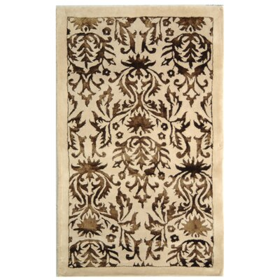 Riviera Beige/Beige Rug Rug Size: Rectangle 26 x 42
