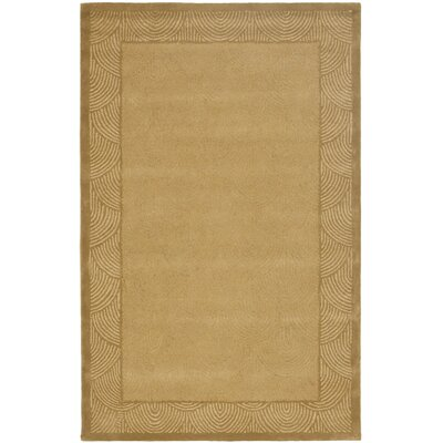 Soho Sandblow SO12A Gold / Gold Contemporary Rug Rug Size: 5 x 8 Rectangle
