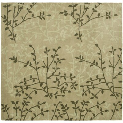 Soho Green Floral Area Rug Rug Size: Square 6