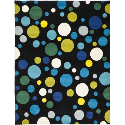 Soho Black/Blue Area Rug Rug Size: Rectangle 83 x 11