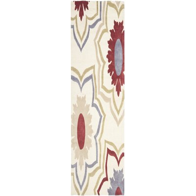 Donnell Ivory / Multi Contemporary Rectangular Rug Rug Size: Runner 26 x 12