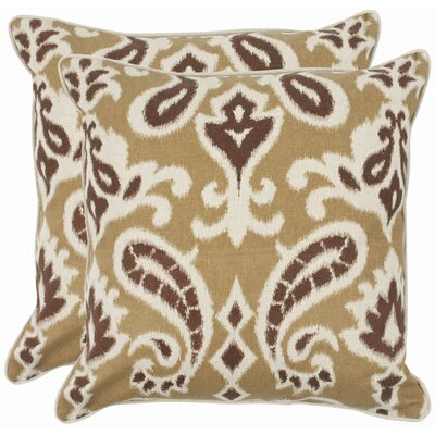 Bonifant Cotton Throw Pillow Size: 18, Color: Desert Brown