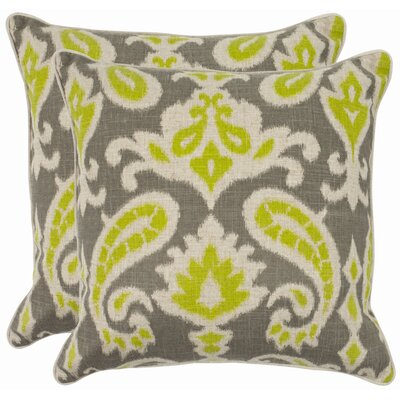 Bonifant Cotton Throw Pillow Size: 18, Color: Summer Lime