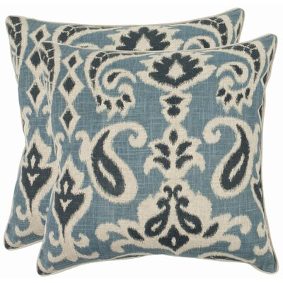 Bonifant Cotton Throw Pillow Size: 18, Color: Porch Blue