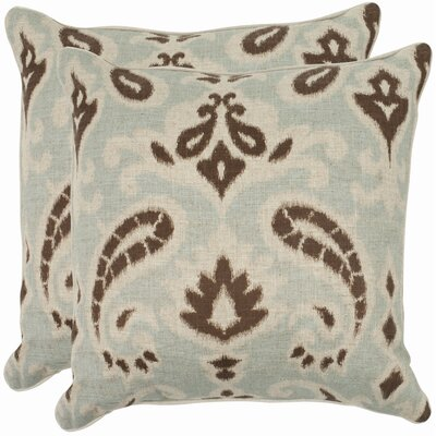 Bonifant Cotton Throw Pillow Size: 22, Color: Baltic Grey