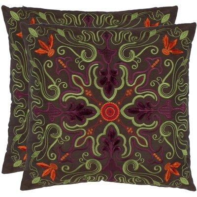 Lisbon Throw Pillow Color: Brown/Multi