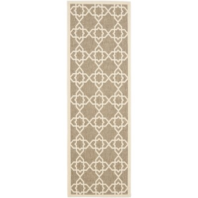 Jefferson Place Brown/Tan ndoor/Outdoor Area Rug Rug Size: Runner 24 x 911
