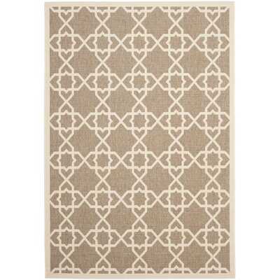 Jefferson Place Brown / Beige Rug Rug Size: 53 x 77