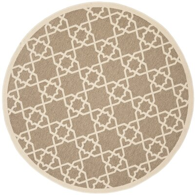 Jefferson Place Brown/Tan ndoor/Outdoor Area Rug Rug Size: Round 67
