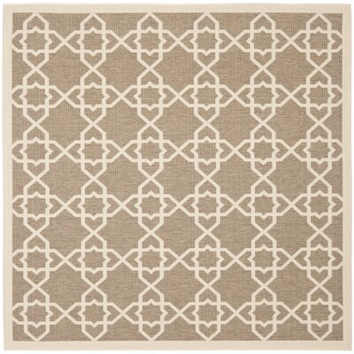 Jefferson Place Brown / Beige Rug Rug Size: Square 67