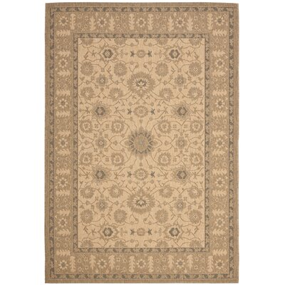 Bexton Natural / Gold Indoor/Outdoor Rug Rug Size: 4 x 57