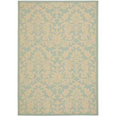 Bexton Aqua / Cream Indoor/Outdoor Rug Rug Size: 4 x 57