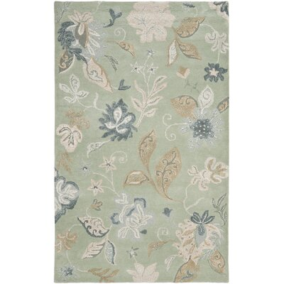 Jardin Light Green/Multi Rug Rug Size: 4 x 6
