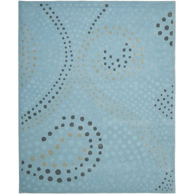 Jardin Light Blue/Grey Rug Rug Size: Rectangle 4 x 6
