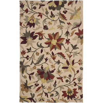 Jardin Beige/Multi Rug Rug Size: Rectangle 8 x 10