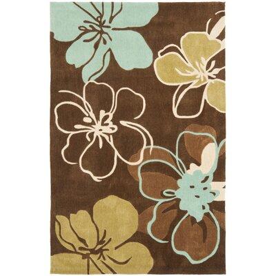 Modern Art Brown/Multi Rug Rug Size: 5 x 8