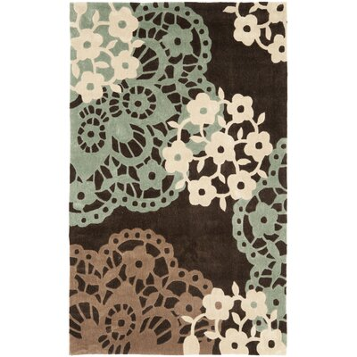Modern Art Brown/Multi Rug Rug Size: 5 x 8