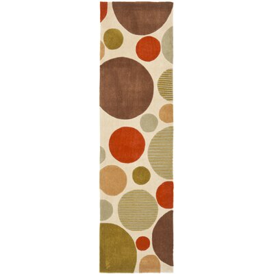 Modern Art Ivory/Multi Rug Rug Size: Rectangle 8 x 10