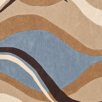 Modern Art Blue/Brown Rug Rug Size: Square 5