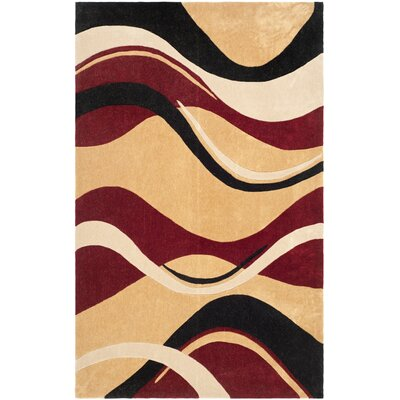 Modern Art Rust/Ivory Rug Rug Size: 5 x 8