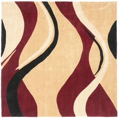 Modern Art Rust/Ivory Rug Rug Size: Square 7