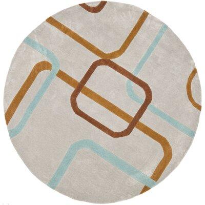 Modern Art Multi Rug Rug Size: Round 7